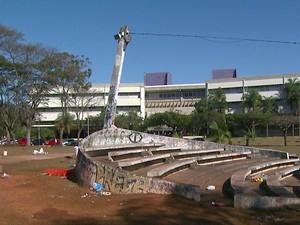 Festa que terminou com um morto e outro esfaqueado foi realizada dentro da Unicamp em Campinas (Foto: Reprodução/ EPTV)