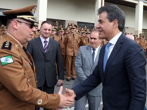 Novo comandante assume com a promessa de transformar a PM em uma polícia comunitária (Foto: Orlando Kissner/ANPr)