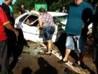 Motorista e passageira morrem após batida entre 3 carros na BR-277, no PR