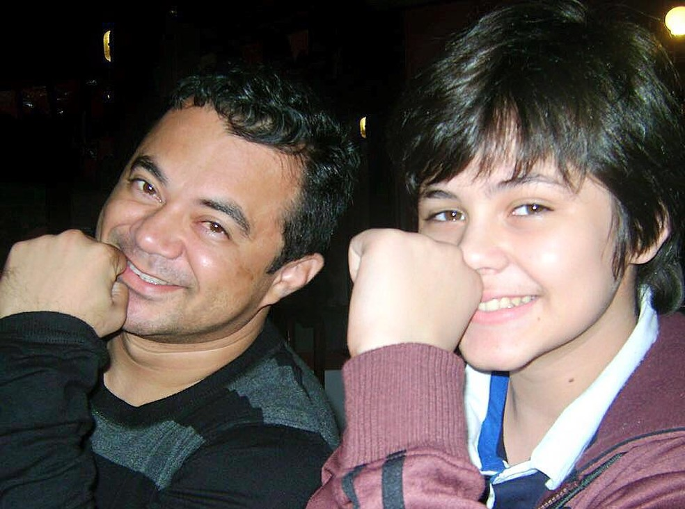 Lucas e o pai, Shaolin (Foto: Reprodução/Facebook/Lucas Veloso)