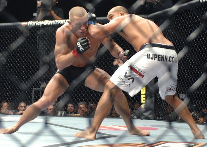 Georges St-Pierre x BJ Penn, UFC 94, MMA (Foto: Getty Images)
