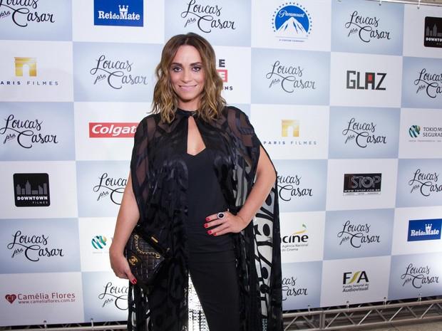 Suzana Pires em pré-estreia em São Paulo (Foto: Marcelo Brammer / AgNews)