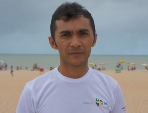 Padre Pedro Targino, cordenador da corrida Bote fé da vida (Foto: Larissa Keren)
