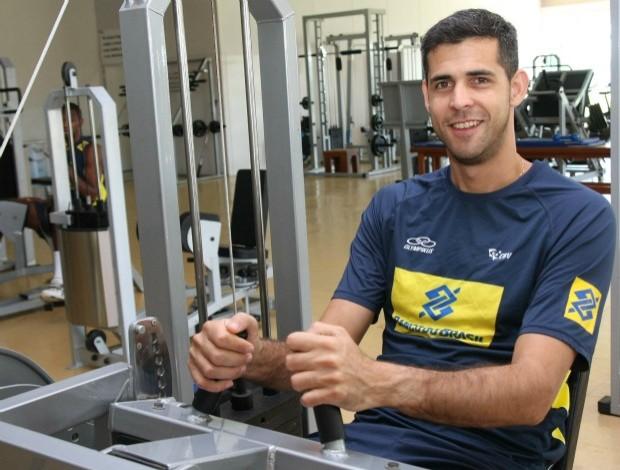 Dante vôlei brasil musculação (Foto: Alexandre Arruda/CBV)