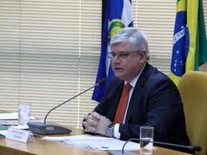 O procurador-geral da República, Rodrigo Janot, participa de debate com outros candidatos ao comando do MP (Foto: Divulgação ANPR)