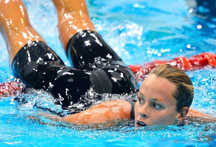 Federica Pellegrini na prova de natação em Londres (Foto: Reuters)