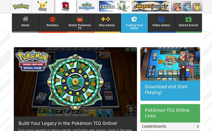 Acesse o site do Pokémon TCG (Foto: Reprodução/Murilo Molina)