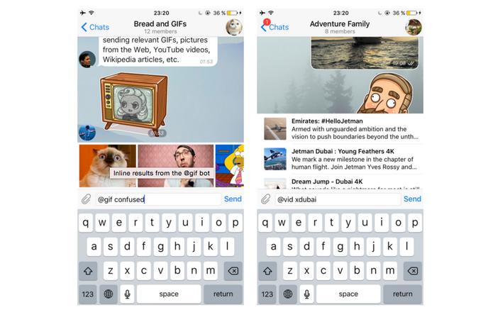 Use @gif + termo de busca e encontre anomações curiosas para usar no Telegram (Foto: Divulgação/Telegram)