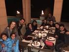 Graciele Lacerda curte jantar na casa de Luciano e agradece carinho
