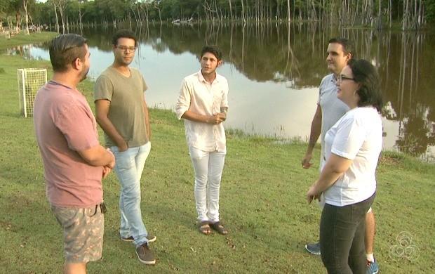 Jovens de diferentes religiões falaram sobre a busca do jovem pela espiritualidade (Foto: Bom Dia Amazônia)