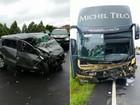 Motorista do ônibus de Michel Teló deixa hospital no PR após acidente