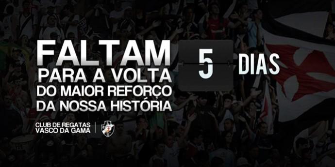 contagem regressiva torcida do Vasco sâo Januário (Foto: Reprodução / Twitter)