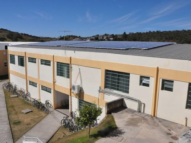 Usina fotoveoltaica instalada no IFMG em Formiga (Foto: IFMG/Divulgação)