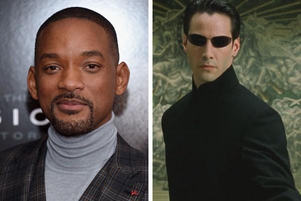 Will Smith e Keanu Reeves como Neo em Matrix (1999) (Foto: Getty Images/Reprodução)