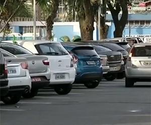 estacionamento rotativo bom dia rio tv rio sul (Foto: Reprodução)