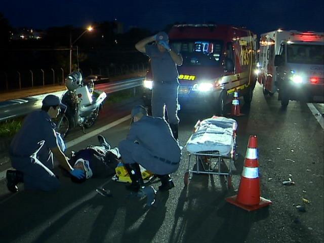 Acidente foi na Rodovia Raposo Tavares, em Presidente Prudente (Foto: Reprodução/TV Fronteira)