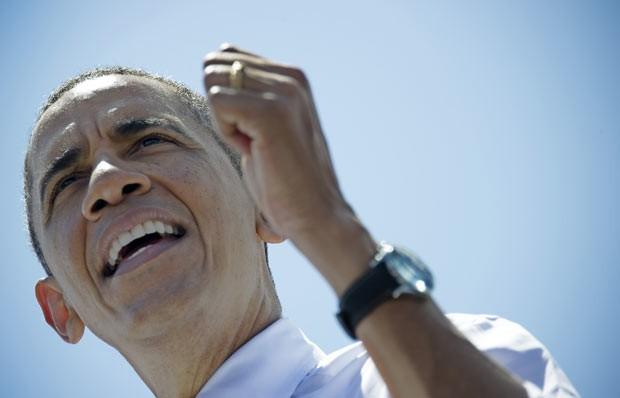 O presidente dos EUA, Barack Obama, discursa nesta sexta-feira (29) em Miami, na Flórida (Foto: AFP)