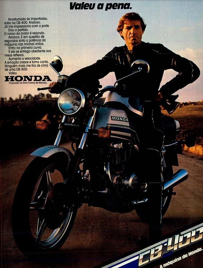 Anúncio da Honda CB 400