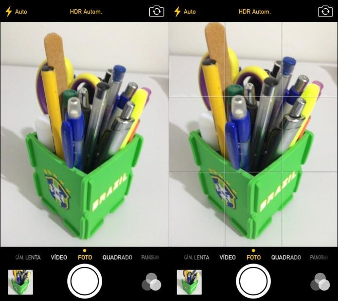 Aplicativo nativo do iOS com recurso ativado (Foto: Reprodução/Helito Bijora)