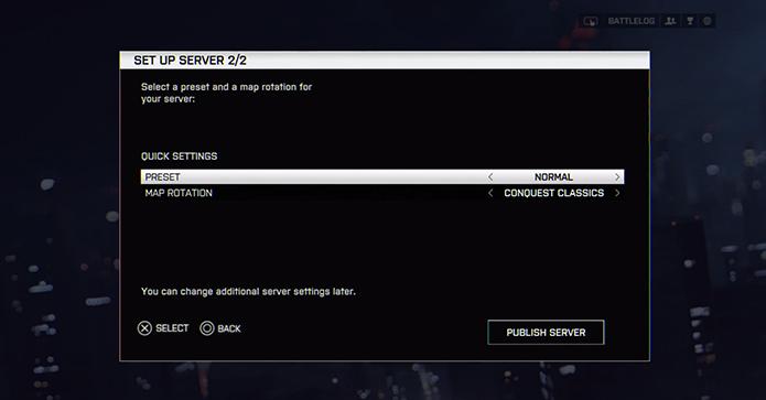 Configure modos de jogo e mapas (Foto: Reprodução/Youtube)