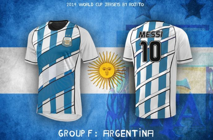 Blog da Copa - design camisa da Argentina