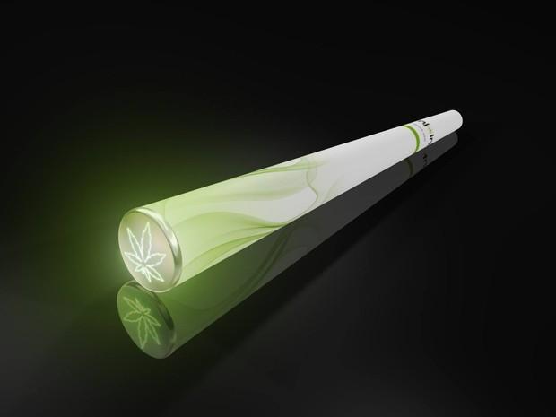 Ilustração de cigarro eletrônico de maconha, comercializado pela empresa holandesa E-njoint (Foto: Reprodução/Facebook/E-njoint)