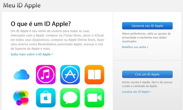 Acesse a página de gerenciamento da ID Apple (Foto  Reprodução Helito  Bijora) 30dd7aa18b