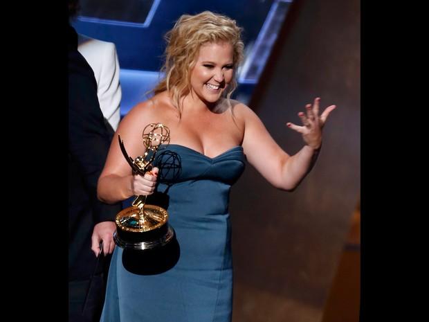 Amy Schumer leva prêmio de melhor esquete de programa de variedades por 'Inside Amy Schumer' (Foto: REUTERS/Lucy Nicholson)