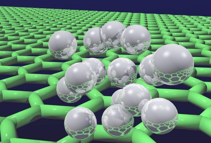 Partículas de hidrogênio no grafeno (Foto: Creative Commons/Flickr/UCL Mathematical and Physical Sciences)
