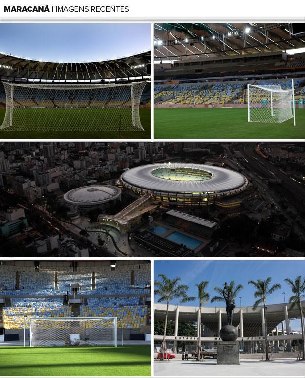 Mosaico Maracanã Imagens Recentes (Foto: Editoria de Arte)