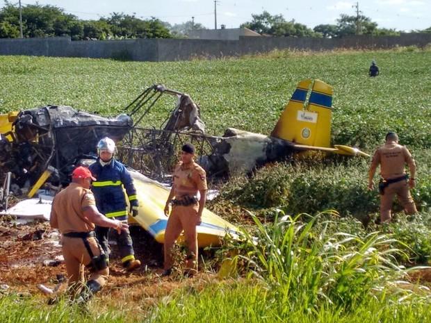 Avião caiu por volta das 17h, próximo a Londrina (Foto: Sandoval Peron/Arquivo pessoal)