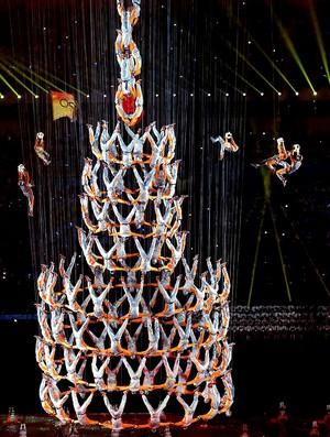 abertura dos Jogos da Juventude na China (Foto: Reuters)