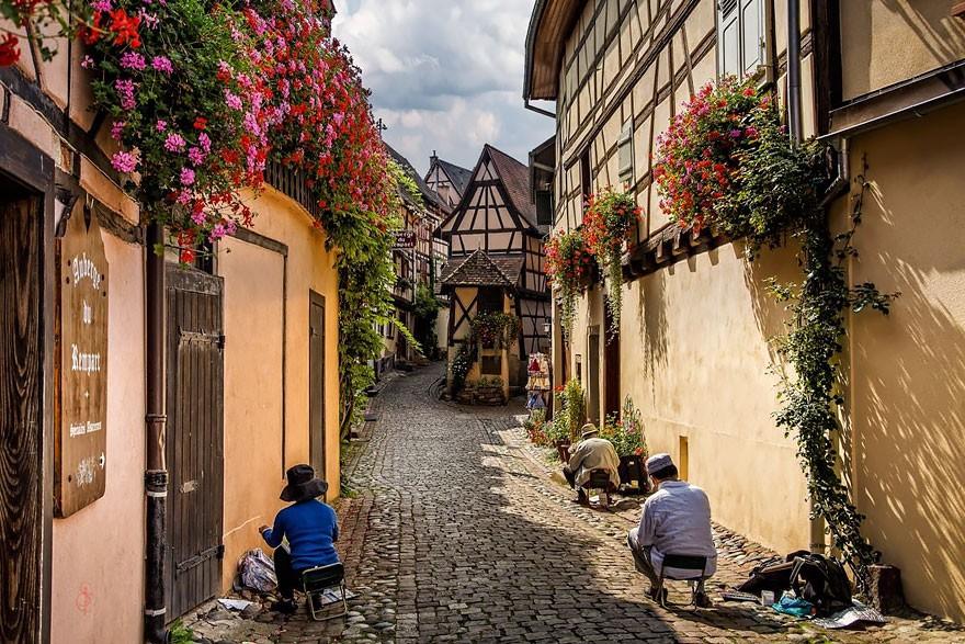 Eguisheim, na França (Foto: Divulgação)