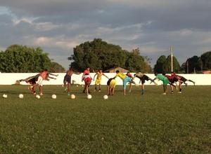 Guajará intensifica treinos para amistoso beneficente (Foto: Dayanne Saldanha)