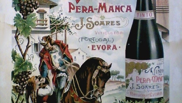 Anúncio publicitário que inspirou o rótulo atual do Pêra-Manca (Foto: Divulgação)