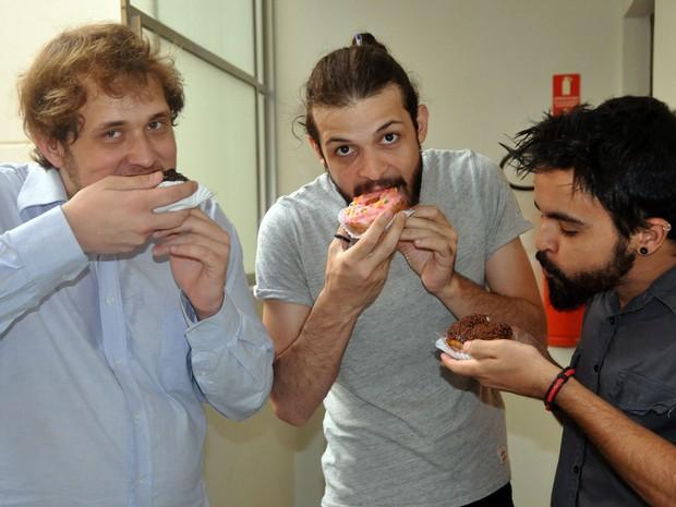 Da esquerda para a direita Bruno Moraes, Marcelo Loredo e Bruce (Foto: Luciano Calafiori/G1)