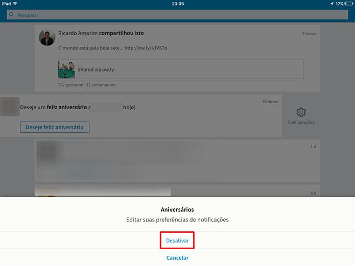 Confirme que deseja desativar certas notificações no LinkedIn (Foto: Reprodução/Elson de Souza)