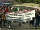 Em greve, funcionários da Susepe fazem protesto em Porto Alegre