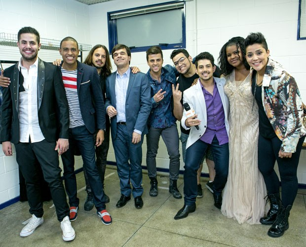 Participantes nos bastidores (Foto: Isabella Pinheiro/ Gshow)