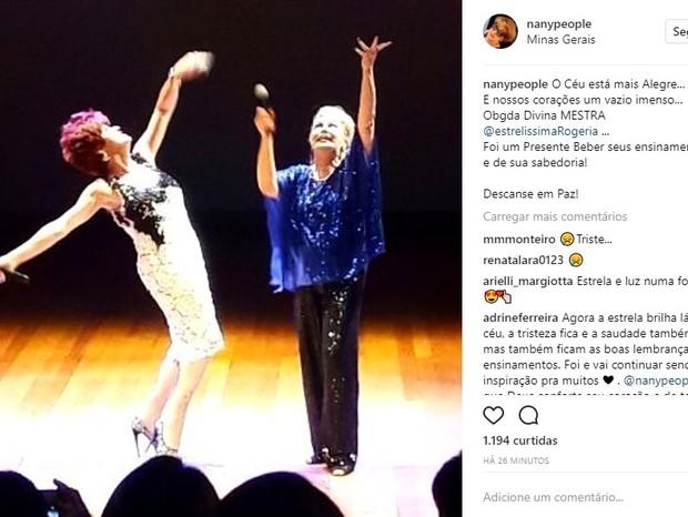 Nany People lamenta morte de Rogéria (Foto: Reprodução/Instagram)