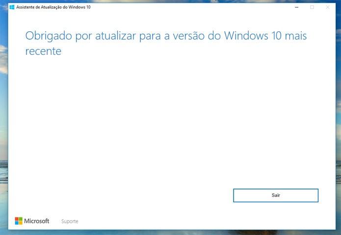 Muitos usuários vão encontrar esta tela antes da atualização estar disponível (Foto: Reprodução/Pedro Cardoso/TechTudo)