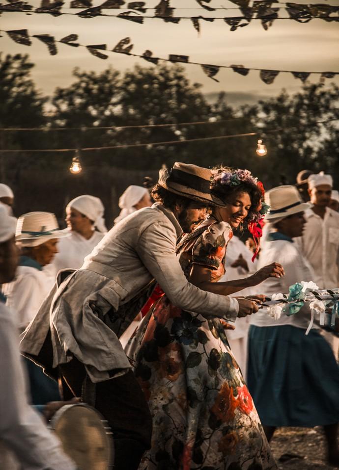 Afrânio dança com Leonor (Foto: Adriana Garcia/ Gshow)