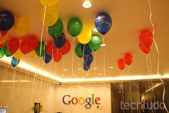 A sala de espera do Google em tom de festa (Foto: Leonardo Ávila/TechTudo)