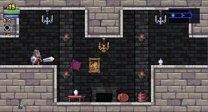 Cenário 2D de Rogue Legacy (Foto: Reprodução / João Moura)