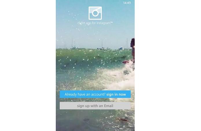 Faça login com a conta do Instagram (Foto: Reprodução/Thiago Barros)