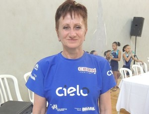 Ex-técnica da Seleção Brasileira Iryna Ilyashenko está na capital (Foto: Fernanda Borges/globoesporte.com)