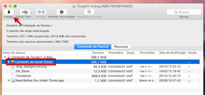 Instalando o iTunes 11 no OS X Yosemite (Foto: Reprodução/Helito Bijora)