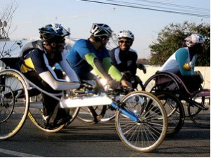 """Ciclistas das modalidades """"handbike"""" (Foto: Lucas Loos/Globoesporte.com)"""