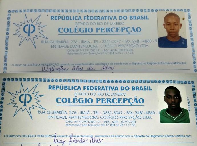 Sassá e Wellington, Botafogo, Fluminense (Foto: Arquivo Pessoal)