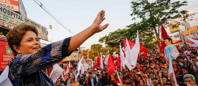 Dilma em Minas Gerais (Foto: Ichiro Guerra / EFE)